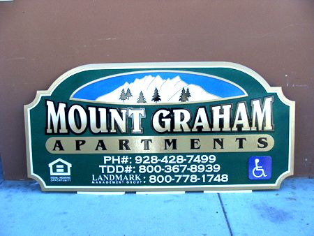K20101 - Mountain Apartment Wood Entrance Sign