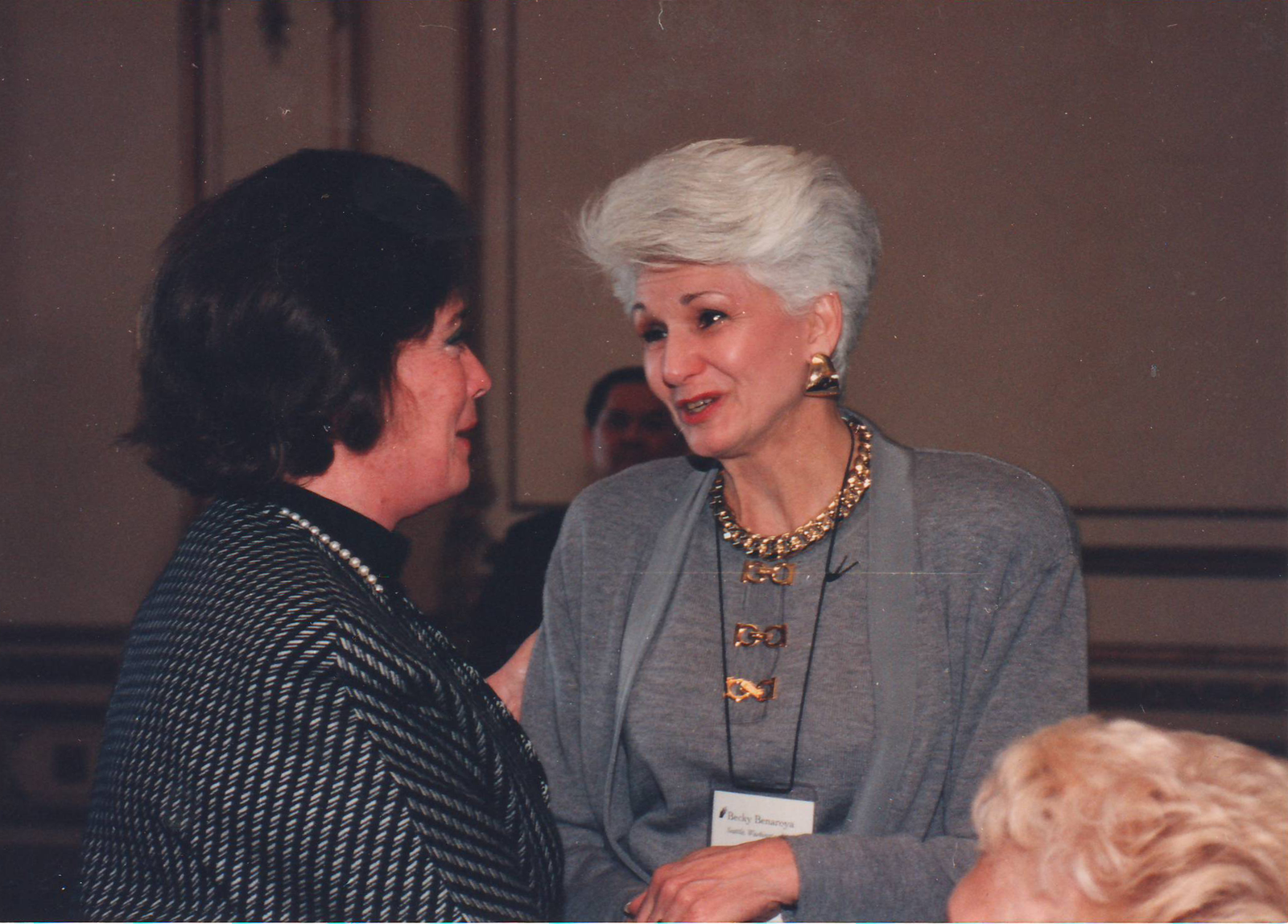 Becky at the International Leadership Conference in San Francisco, October 1993.