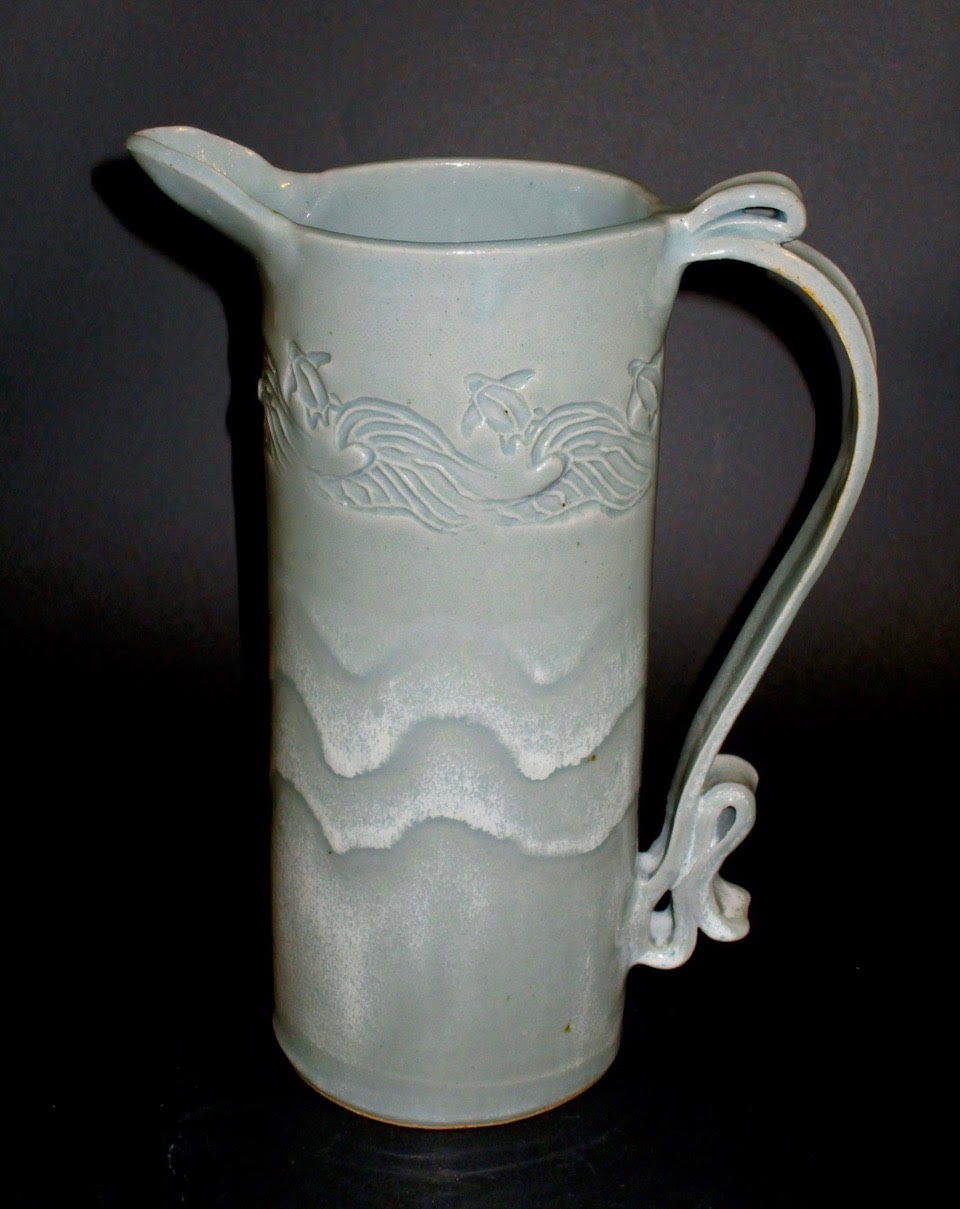 Ocean Waves Pitcher
