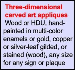 V31197 - 3-D DoD Carved Art Appliques