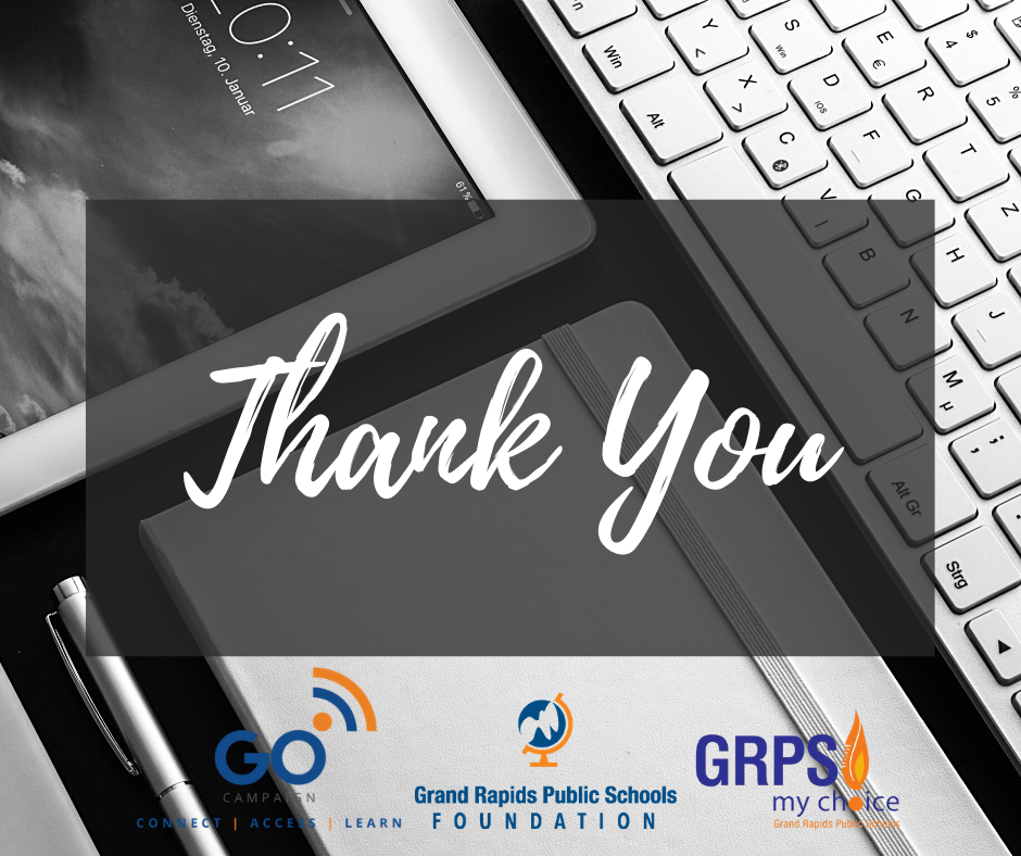Grand Rapids Board of Education Recognizes Financial Supporters of Spring Distance Learning for GRPS Students