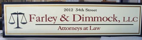 A10113 - Carved Wood Address Sign for Attorney Offices