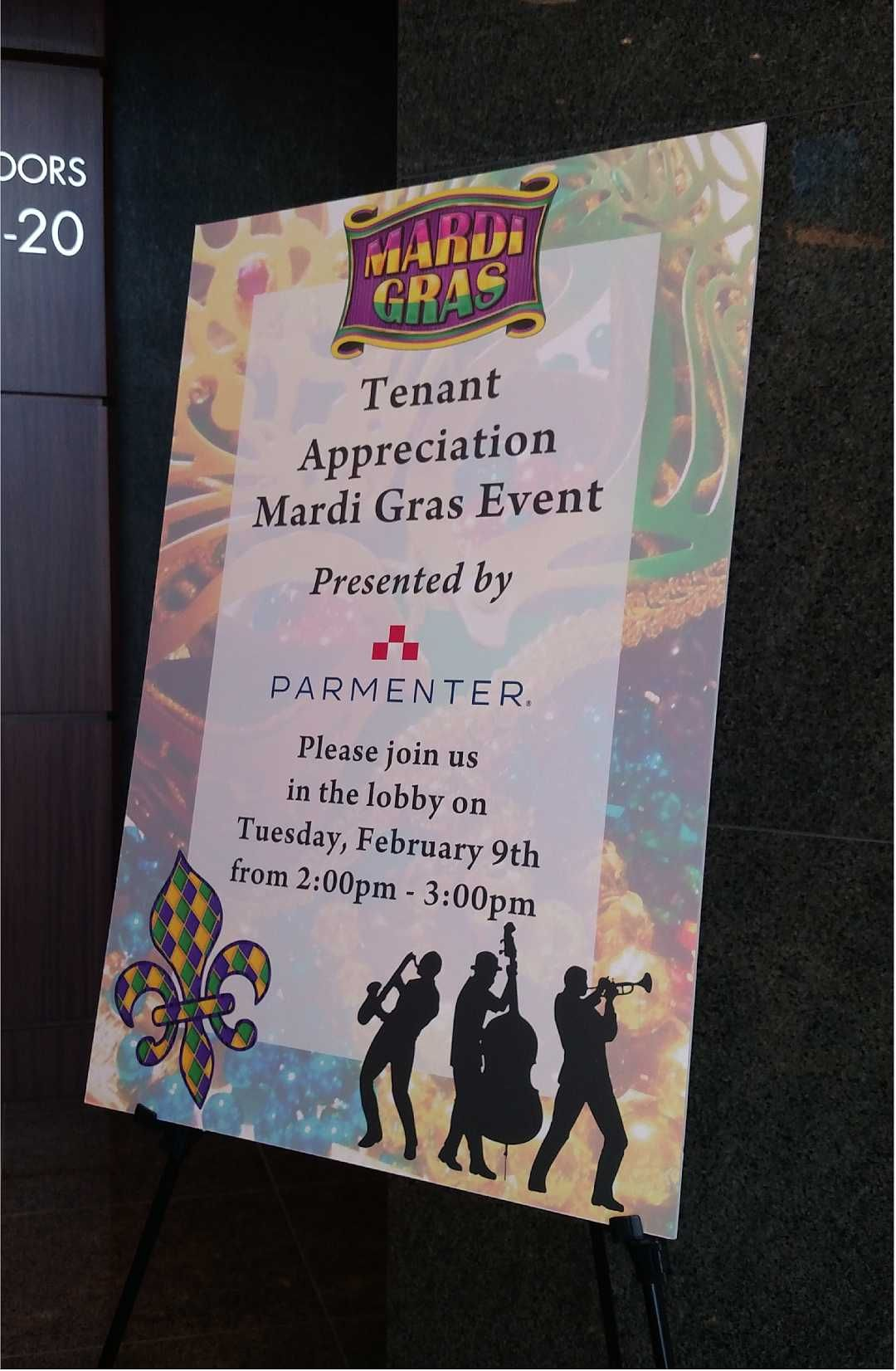 Lobby Event Signs