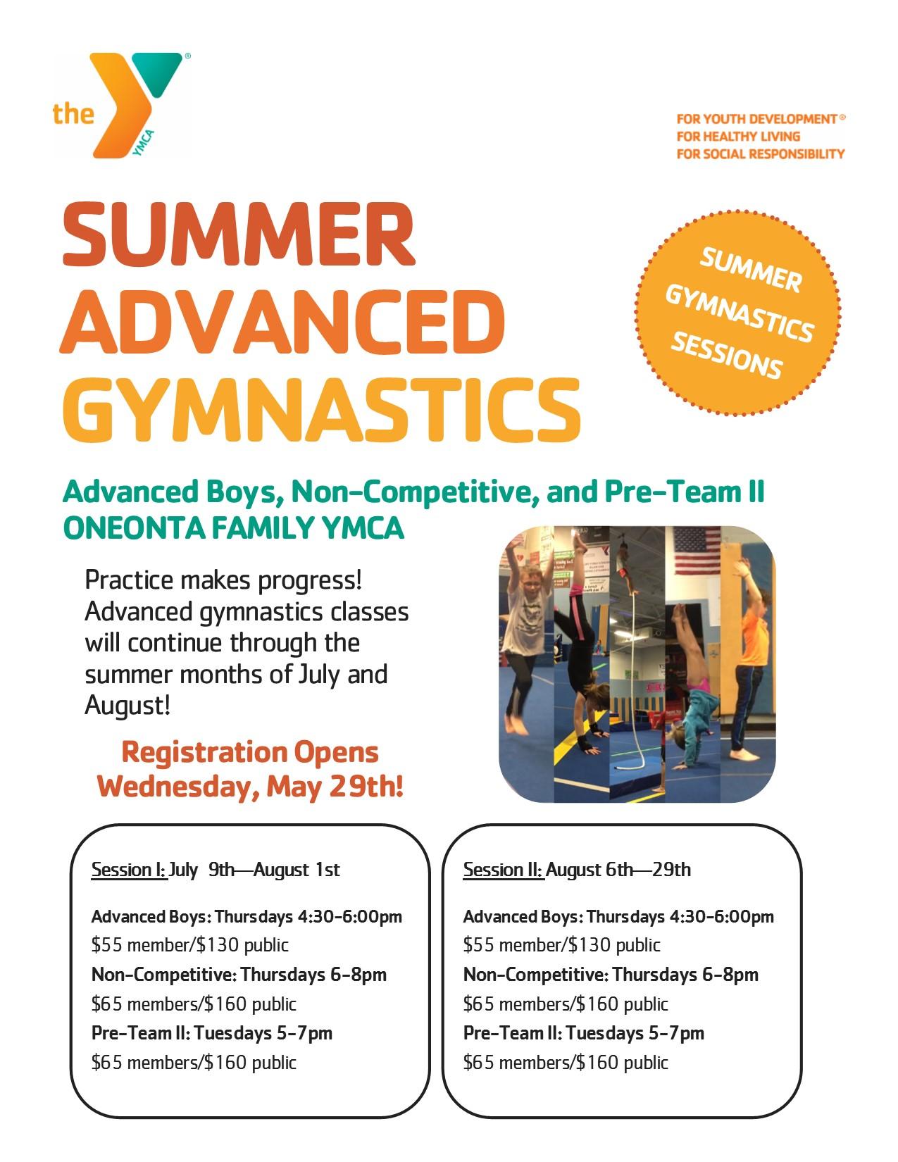 Summer Advanced Gymnastics