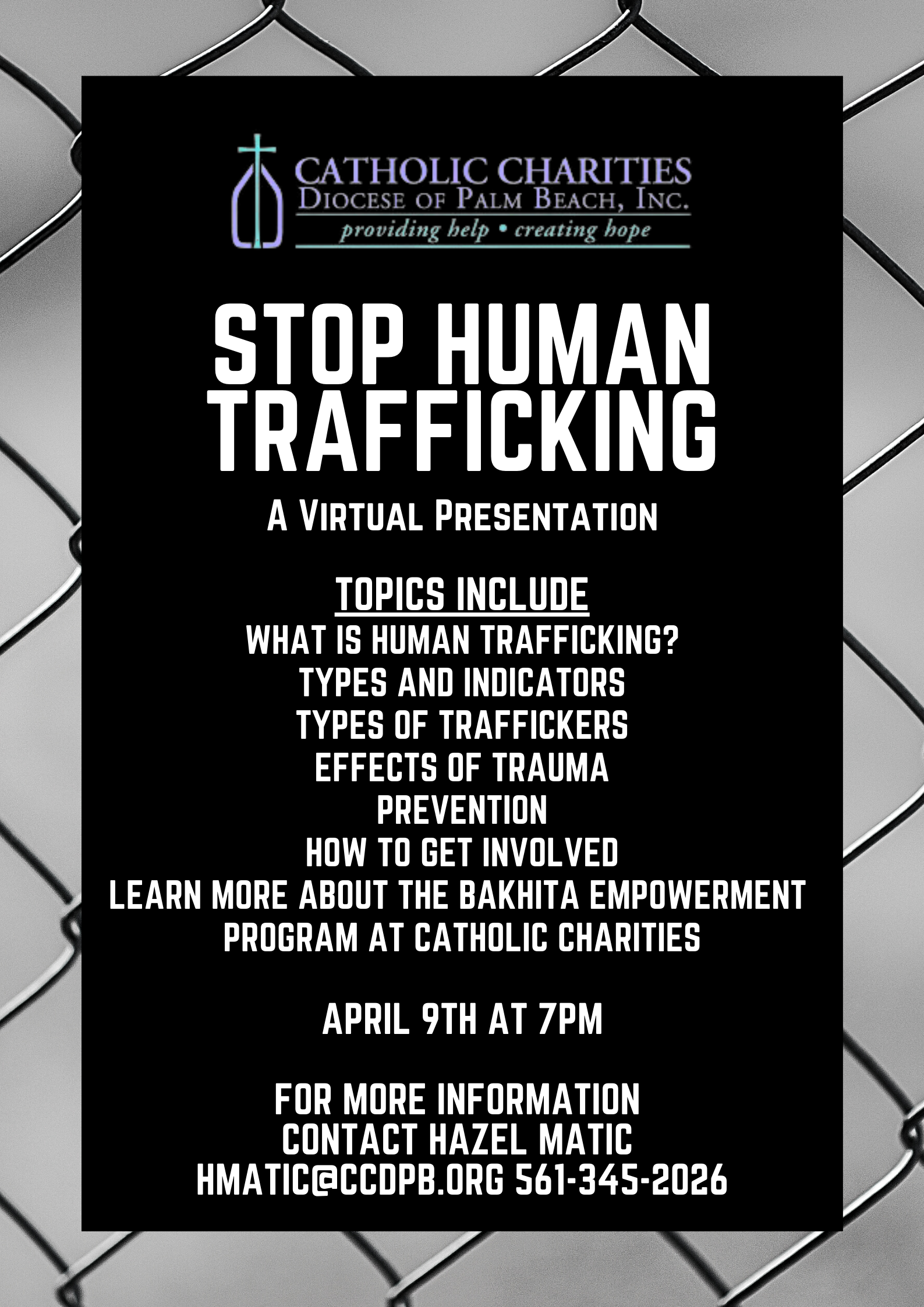 Human Trafficking Virtual Presentation