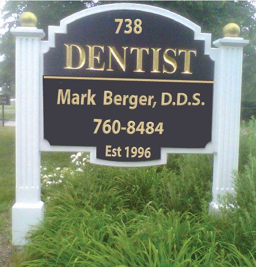 BA11513 - Post and Panel Dental Office Entrance Sign