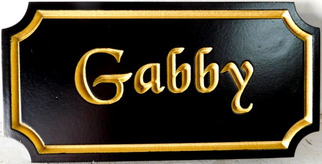 P25410 - Horse Stall Sign with 24K Gold Gilt Lettering and Borders