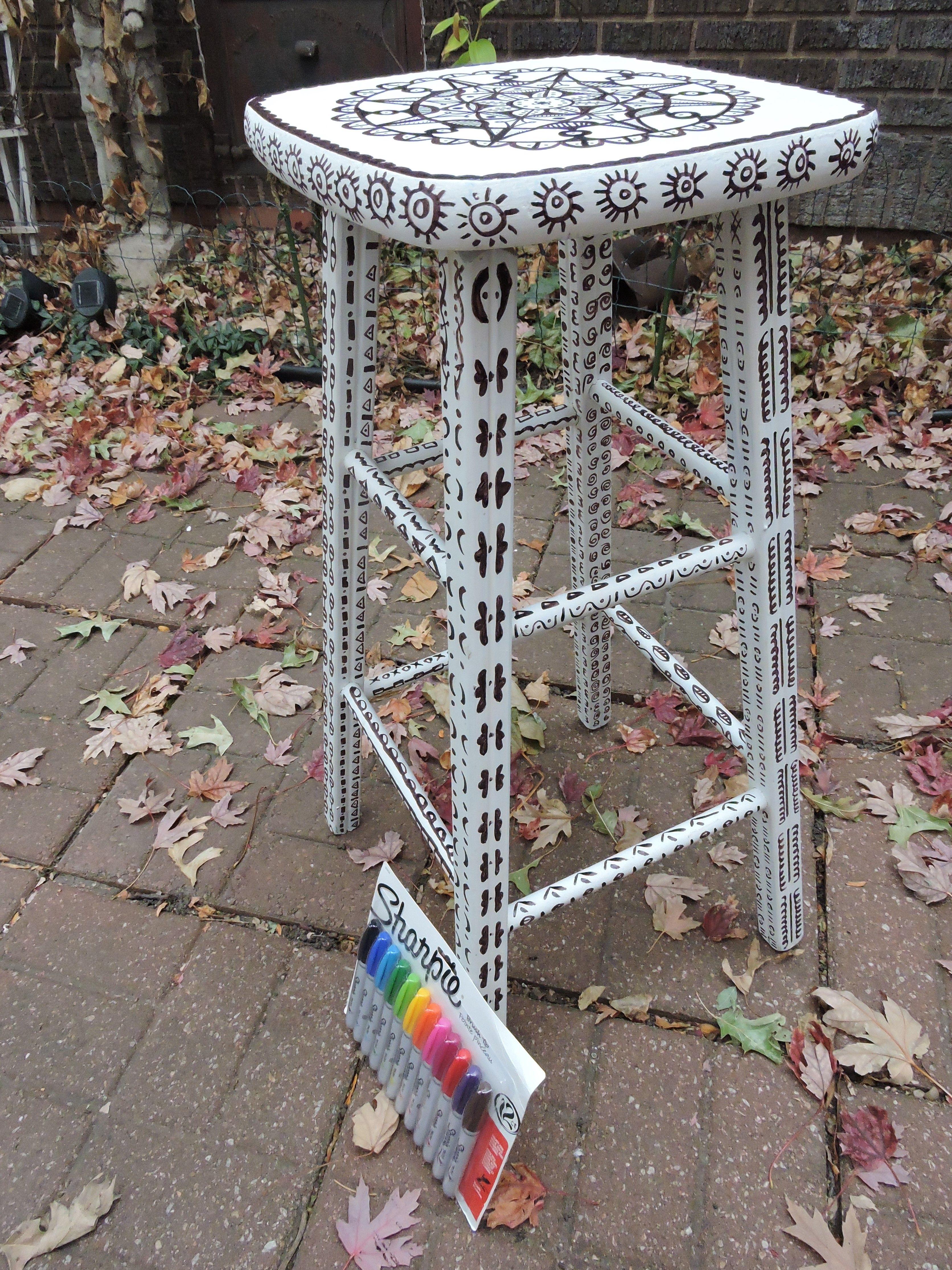 Color Me stool by Rhonda Lake