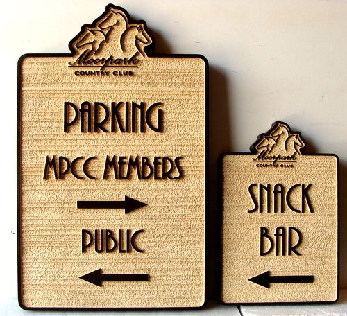 P25136 - Sandblasted Wayfinding Signs for Equestrian Center