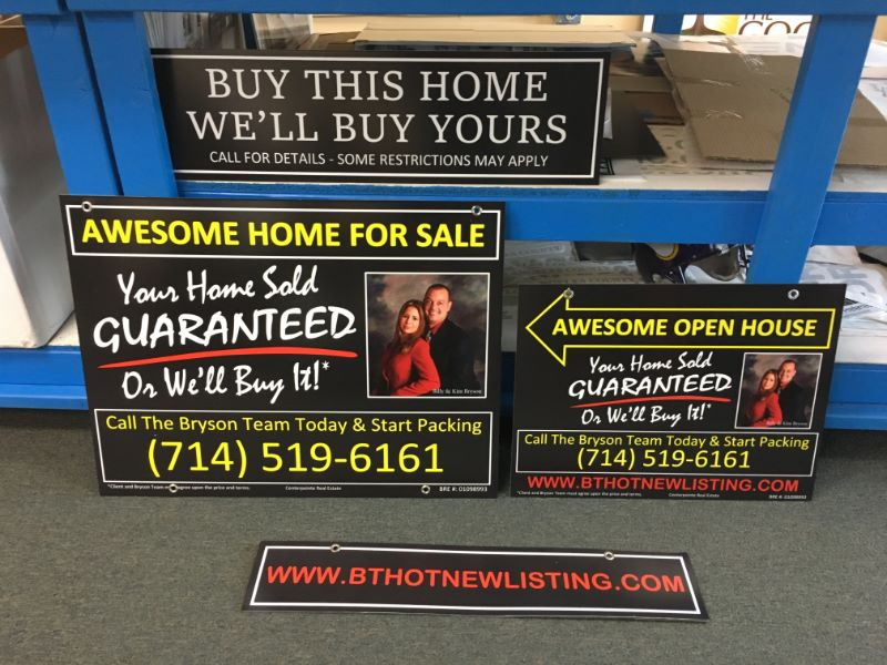 Commercial & Residential Real Estate Signs, Design, Brea, CA 92823
