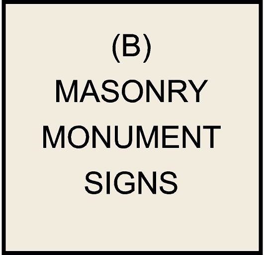 M6400 - Masonry  Monument Bases and Signs (click for description)