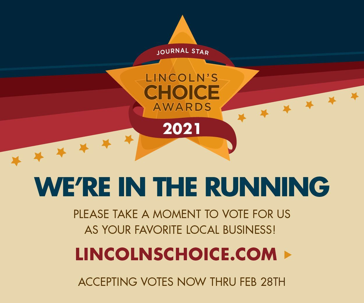 Vote Tabitha Daily for Lincoln's Choice Awards