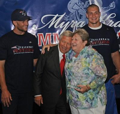 New England Patriots Honor Treehouse Elder!