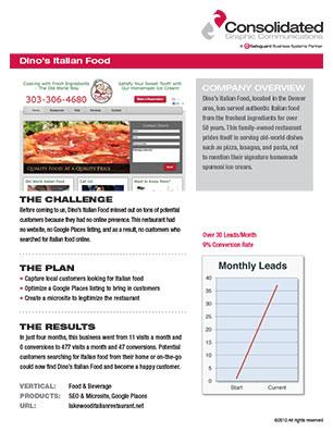 Italian Food Case Study