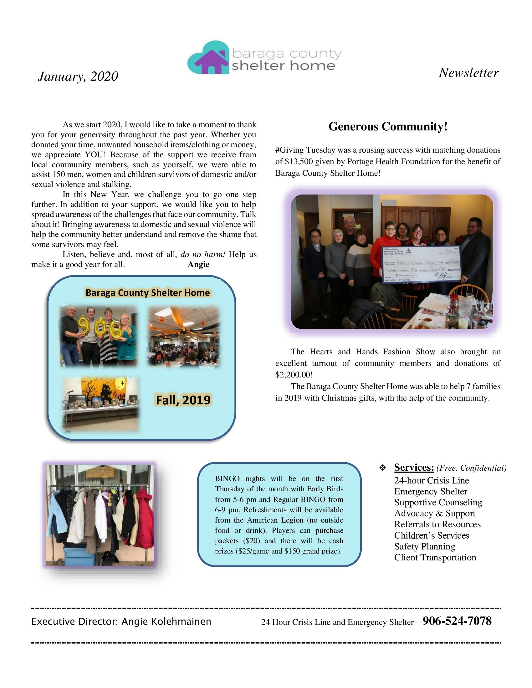 January Newsletter pg 1