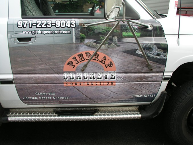 Piedrap Concrete Vehicle Wrap