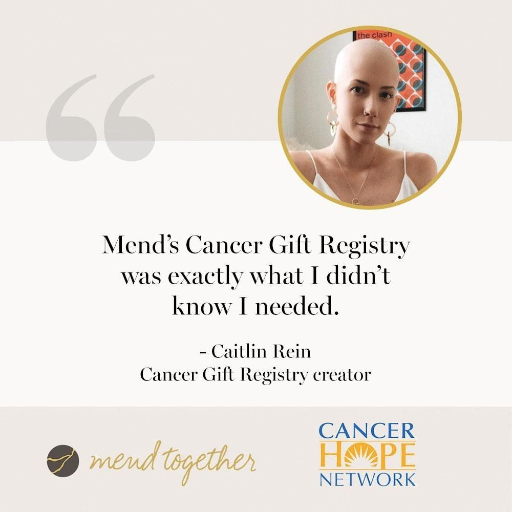 Mend Together: provides help for cancer patients, donations to CHN