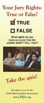 Your Jury Rights: True or False? 150w