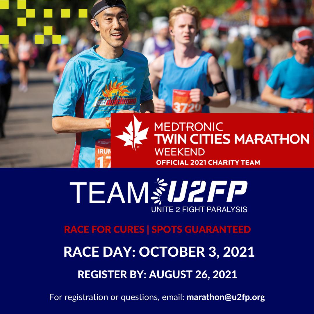 Racers running in the Twin Cities Marathon
