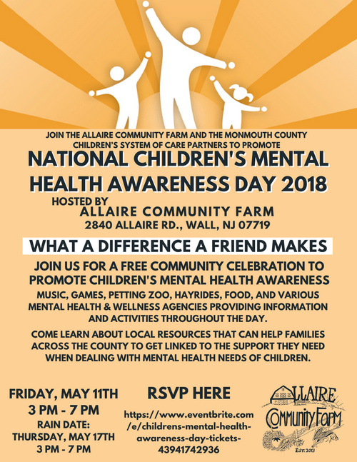 Monmouth County: NATIONAL CHILDREN'S MENTAL HEALTH AWARENESS DAY 2018