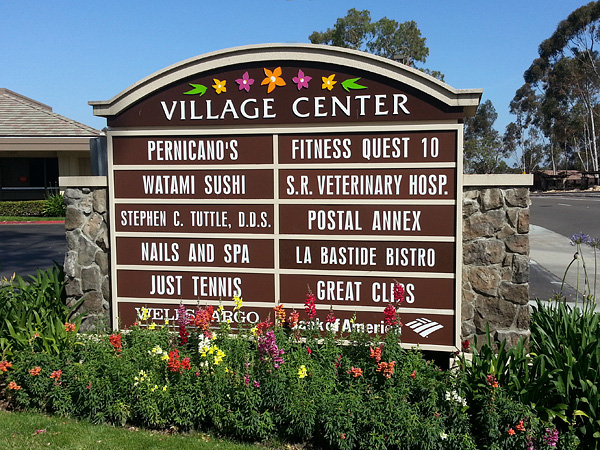 Multi Tenant Monument Sign