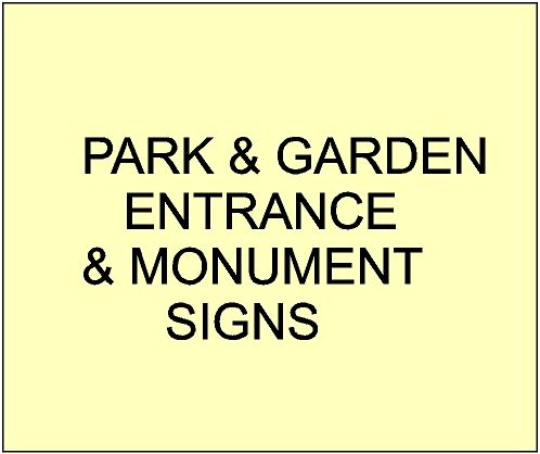 1. - GA16400 - Large Carved  Entrance and Address signs for City, Town, Village and Private Parks & Gardens
