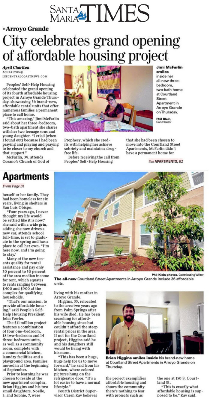City Celebrates grand opening of affordable housing project - Santa Maria Times