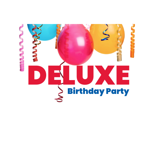 Deluxe birthday party logo