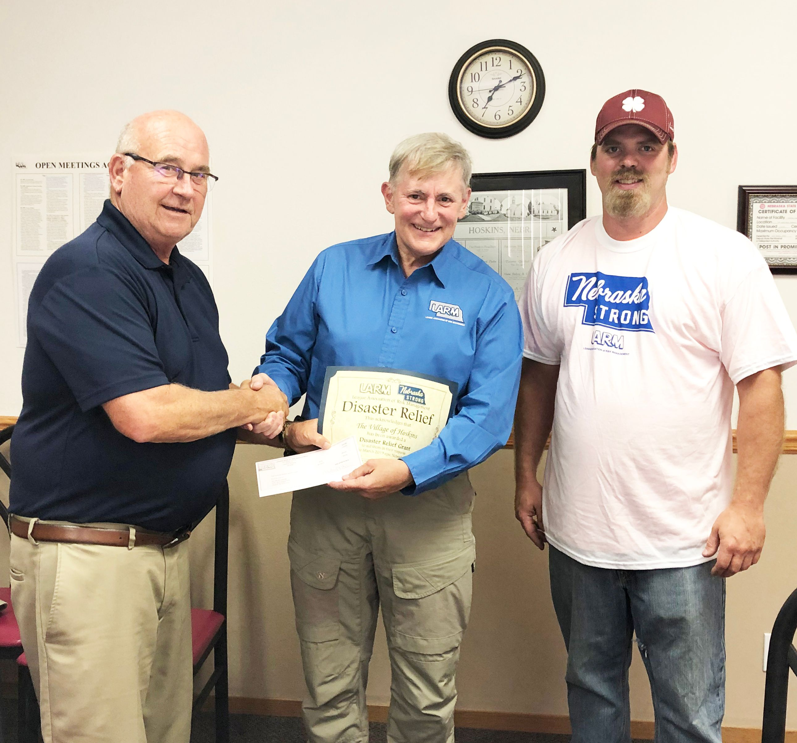 Disaster Relief Funds Awarded to the Village of Hoskins