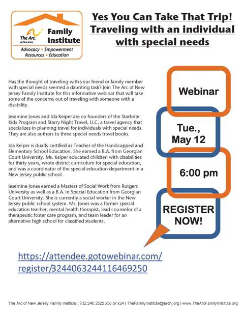 The Arc of New Jersey Family Institute : Resources : Event