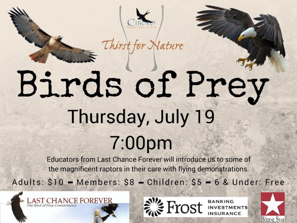 CNC: a Thirst for Nature event - Birds of Prey