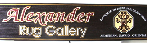 SA28326 - Wood Sign for Rug Gallery for Armenian, Navaho and Oriental Rugs for Sale; Repair and Cleaning