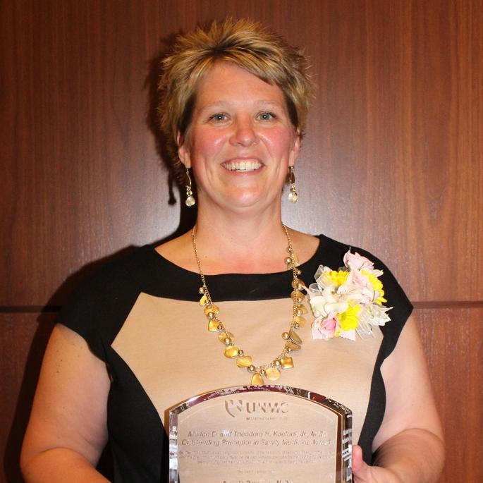 NAFP Member, Dr. Angela Brennan, honored with Koefoot Award