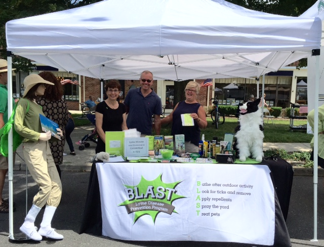 BLAST volunteers at Ridgefield SummerFest 2015 teaching tickborne disease prevention tips.