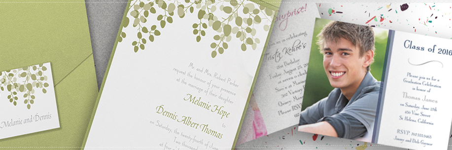 Invitations, Weddings, Announcements & Parties