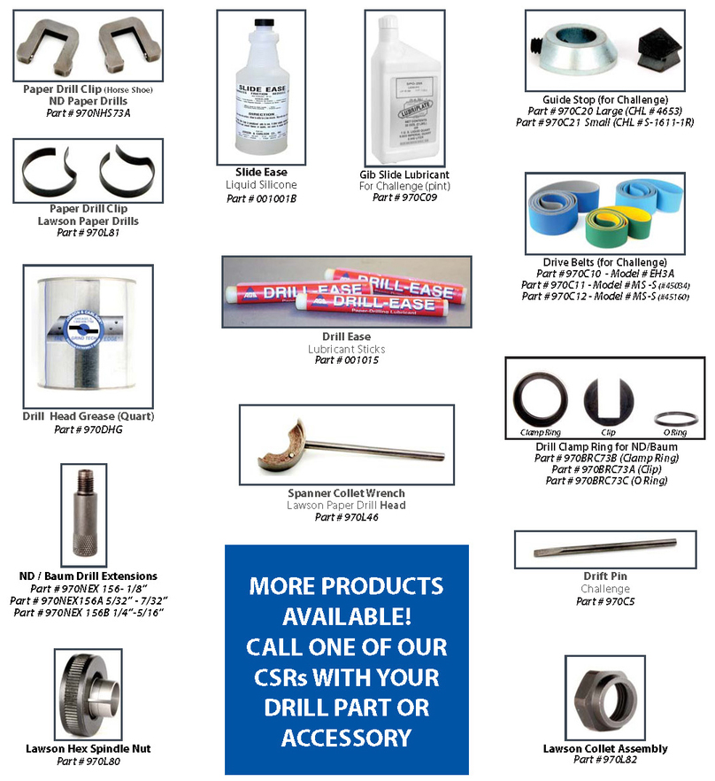 Paper drill parts & accessories