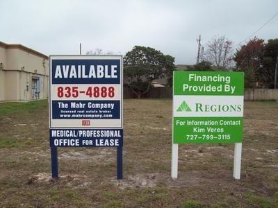 Financed By Sign