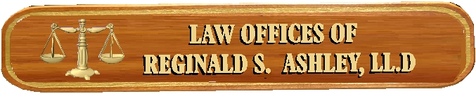 A10412 - Mahogany Attorney Sign with Carved 3D Scales and Text