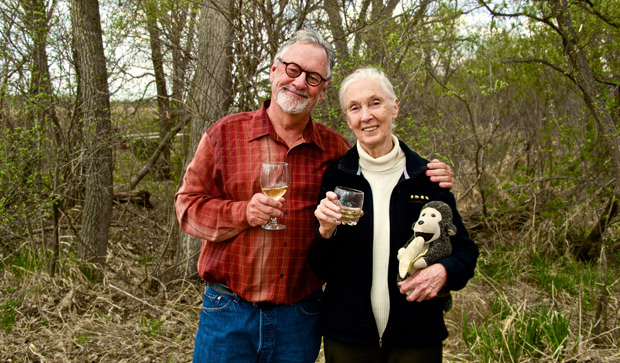Jane Goodall and the Sandhill Cranes