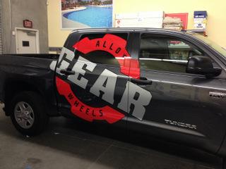 Die cut vinyl truck graphics Orange County