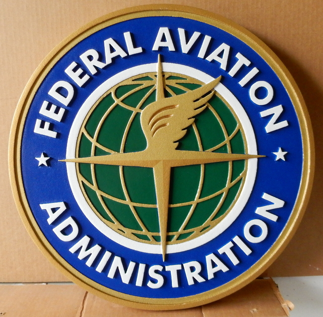 U30420 - Carved Wall Plaque for the Federal Aviation Administration (FAA)