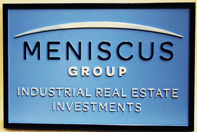 """C12343 - Carved 2.5-D HDU Sign for the""""Miniscus Group - Industrial Real Estate Investments"""""""