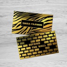 Raised Foil Business Cards (Foil front only)
