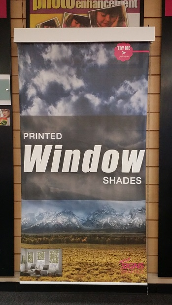 Printed Window Shade