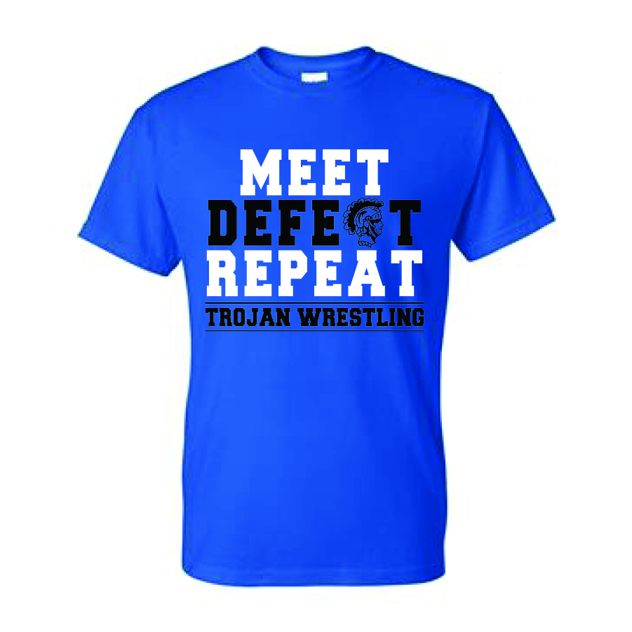 Auburn Wrestling Short Sleeve (Blue)