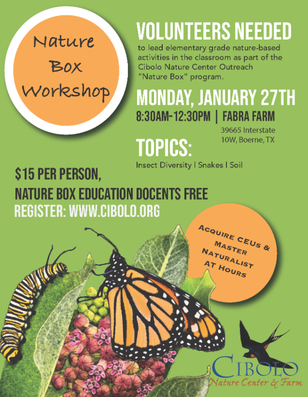 FABRA ACRES: Nature Box Educators Volunteer Workshop