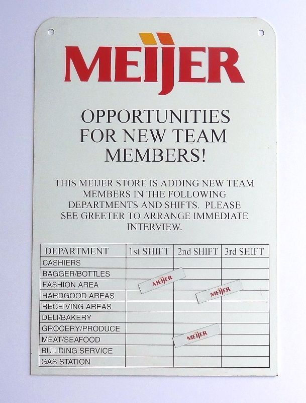 Open Positions Magnetic Sign