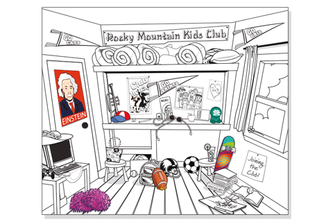 Clubhouse Coloring Page