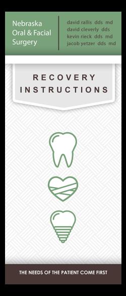 Recovery Instructions Nebraska Oral Facial Surgery Wisdom