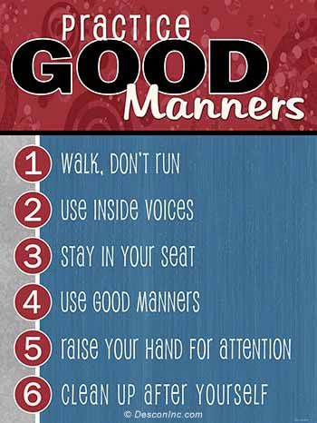 Good Manners Board